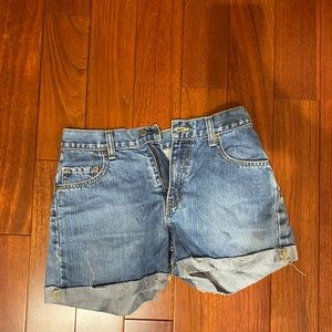 reworked recycled levi shorts